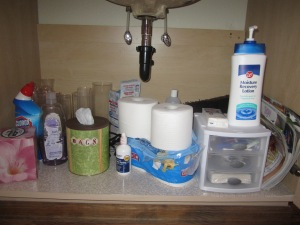Guest Bathroom - Under the sink must haves