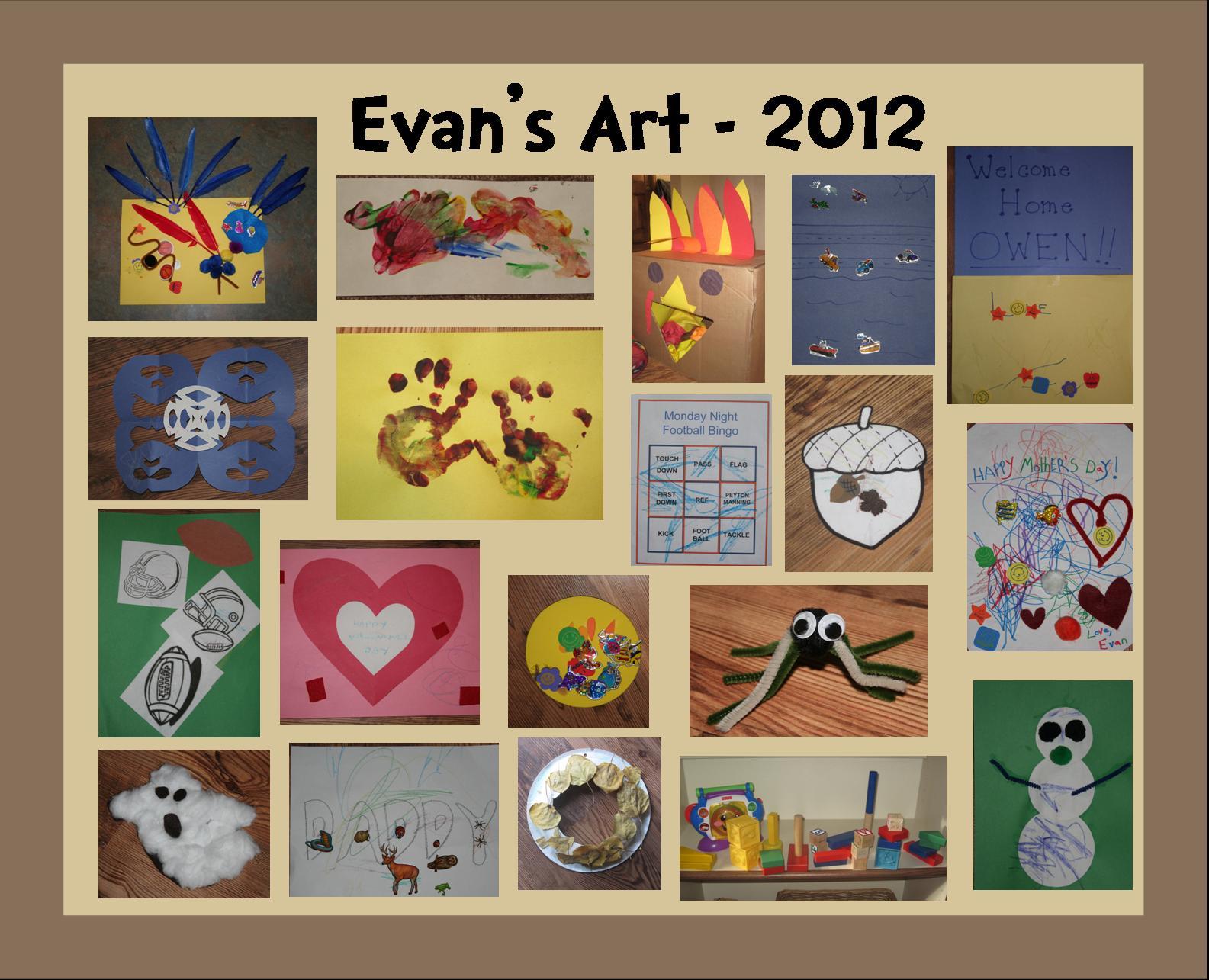 Evan's Art - 2012