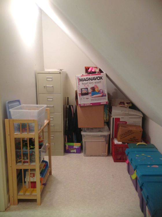 Left side of playroom closet - after