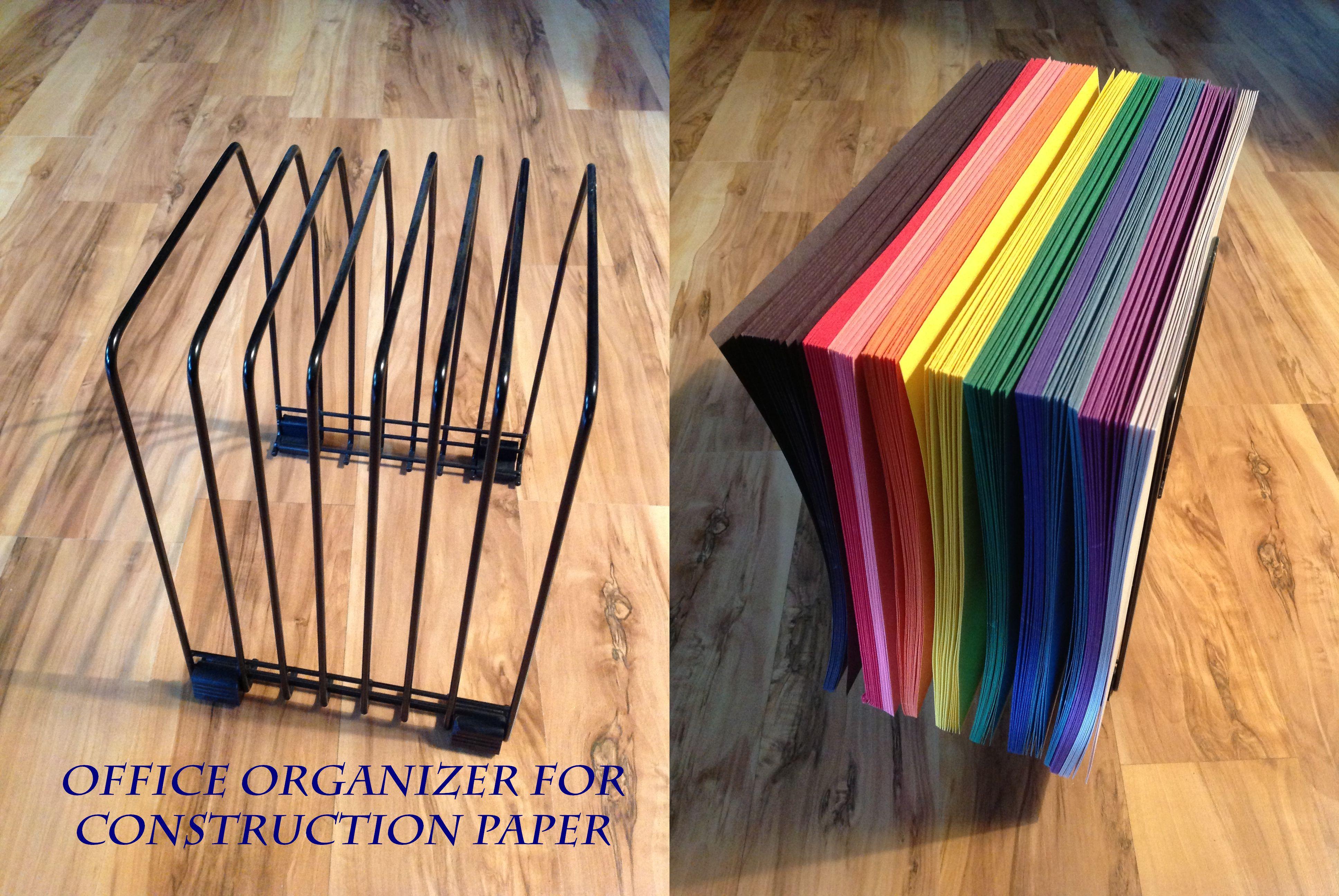 construction paper organizer