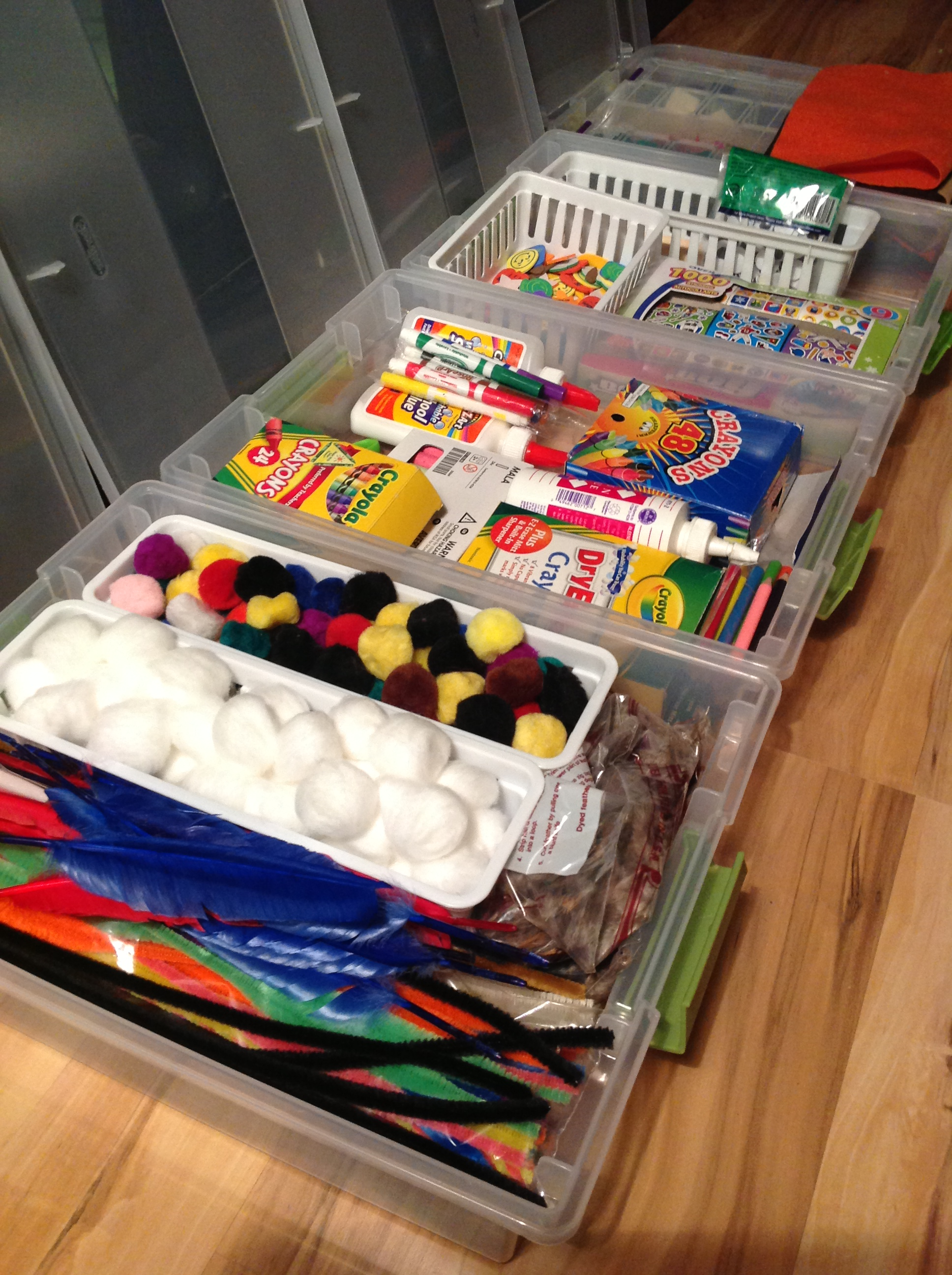 Kid s craft organization neaten your nest for Craft supplies organization ideas