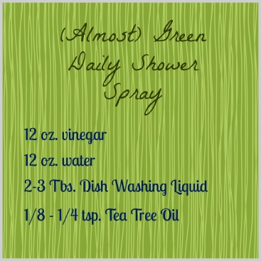 Green Shower Spray